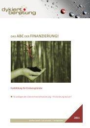 2011 DAS ABCDER FINANZIERUNG! - Dykiert Beratung