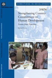 Strengthening Country Commitment to Human Development - Open ...