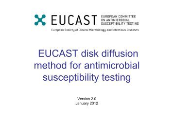 EUCAST disk diffusion method for antimicrobial susceptibility testing