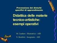 Didattica delle materie tecnico-artistiche: esempi operativi