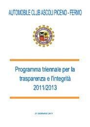 Programma per la Trasparenza e l'Integrità 2011-2013 AC Ascoli ...
