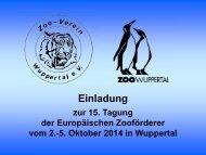 Einladung Wuppertal - Tagungen Europäischer Zooförderer