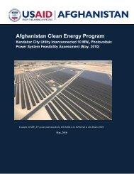 Kandahar City PV System Assessment Report - Afghan
