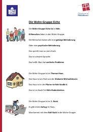 Wohngruppe Eiche - Diakonie Michaelshoven