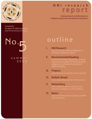 printable version - Native Nations Institute - University of Arizona