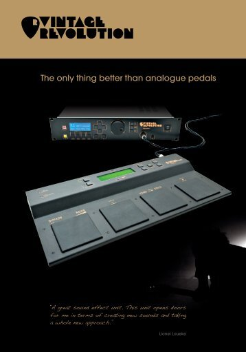 PedalPro System 2011 Brochure - Vintage Revolution