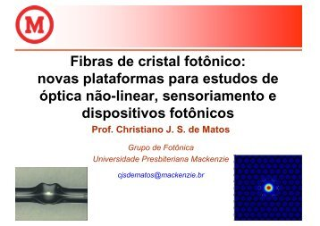 Fibras de cristal fotônico: novas plataformas para ... - Axpfep1.if.usp.br