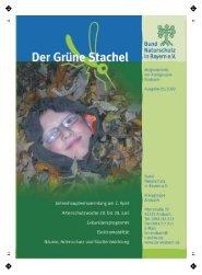 grüne Stachel 1/09 - Bund Naturschutz Kreisgruppe Ansbach