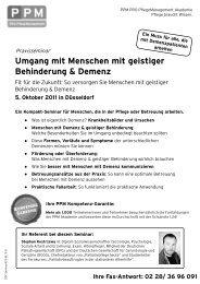 5. Oktober 2011 in Düsseldorf - Fachwissen für die Altenpflege ...