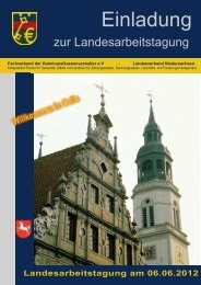 Agenda Landesarbeitstagung 2012 - kassenverwalter.de