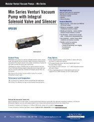 Miniature Venturi Vacuum Pump w/Solenoid Control - Vaccon ...