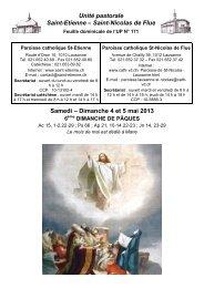 Dimanche 4 et 5 mai 2013 - Cath-vd.ch