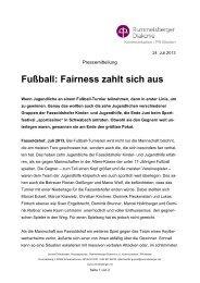 Fußball: Fairness zahlt sich aus - Die Rummelsberger