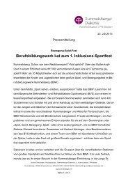 Berufsbildungswerk lud zum 1. Inklusions-Sportfest - Die ...
