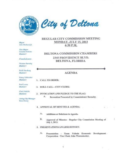 June 17, 2013 Agenda.pdf - City of Deltona, Florida