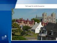 Diapositive 1 - Réseau québécois des villes et villages en santé