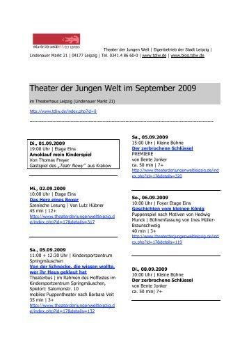 Theater der Jungen Welt im September 2009 - Puppenspiel