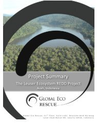 The Leuser Ecosystem REDD Project by Global Eco-Rescue