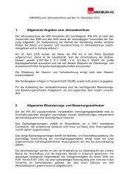 HGB Anhang - IFM Immobilien AG