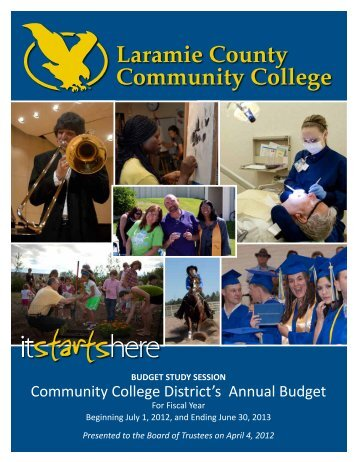 fy 2013 budget - Laramie County Community College