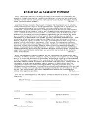 program registration forms - City of East Moline