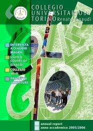 Annual Report - Anno Accademico 2005/06 - Collegio Einaudi
