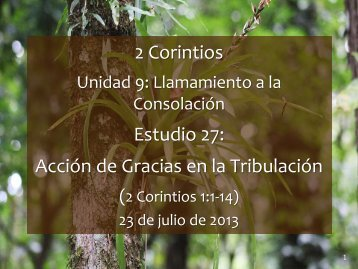 2 Corintios - Iglesia Biblica Bautista de Aguadilla, Puerto Rico