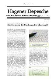 Hagener Depesche Nr. 11 - FernUniversität in Hagen