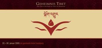 Programmheft laden - Geheimnis Tibet