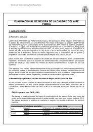 PLAN NACIONAL DE MEJORA DE LA CALIDAD DEL AIRE - OBSA