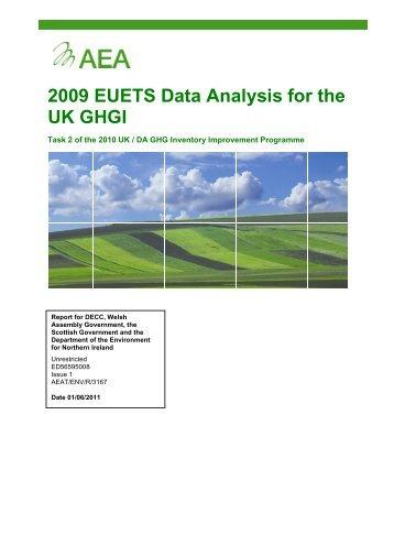 2009 EUETS Data Analysis for the UK GHGI - UK-Air