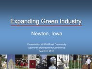 Expanding Green Industries