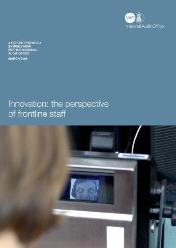 Innovation - National Audit Office