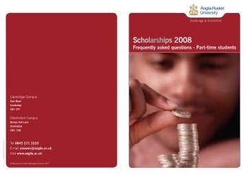 Scholarships 2008 Frequently asked questions - Part-time students