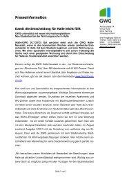 Damit die Entscheidung für Halle leicht - GWG Halle-Neustadt mbH
