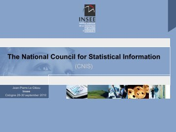 The National Council for Statistical Information