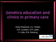 Nurse Counsellor in Clinical Genetics for Primary Care