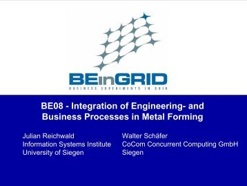 Integration of Engineering- and Business Processes in ... - Unicore
