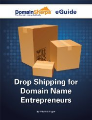 Drop Shipping for Domain Name Entrepreneurs By ... - DomainSherpa
