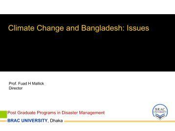Post Graduate Programs in Disaster Management BRAC ... - auedm