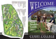 New Student Guide 2011 - Curry College