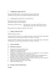 1. NOMBRE DEL MEDICAMENTO Lansoprazol STADA Genéricos ...