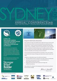 annual conference - Environment Institute of Australia and New ...