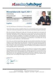 Monatsbericht April 2011 - Weiler Eberhardt Depotverwaltung AG
