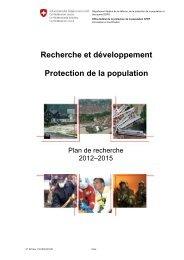 Recherche et développement Protection de la population - admin.ch