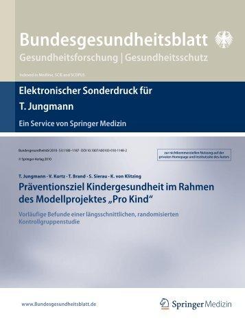 Bundesgesundheitsblatt - Institut für Sonderpädagogische ...