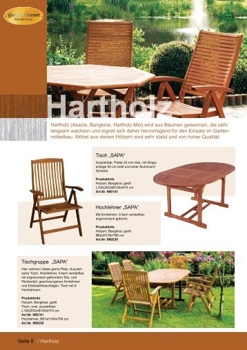 Hartholz Katalog 2012