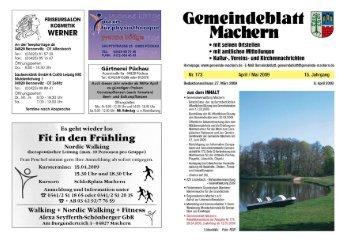 Amtsblatt Nr. 173 April 2009 - Gemeinde Machern
