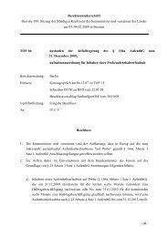 Beschlussniederschrift über die 189. Sitzung ... - Aktion Bleiberecht