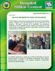SALA DE INFORMÁTICA PARA LOS SOLDADOS - Hospital Militar